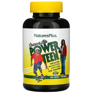 Nature's Plus, Source of Life, Power Teen, 180 Tablets