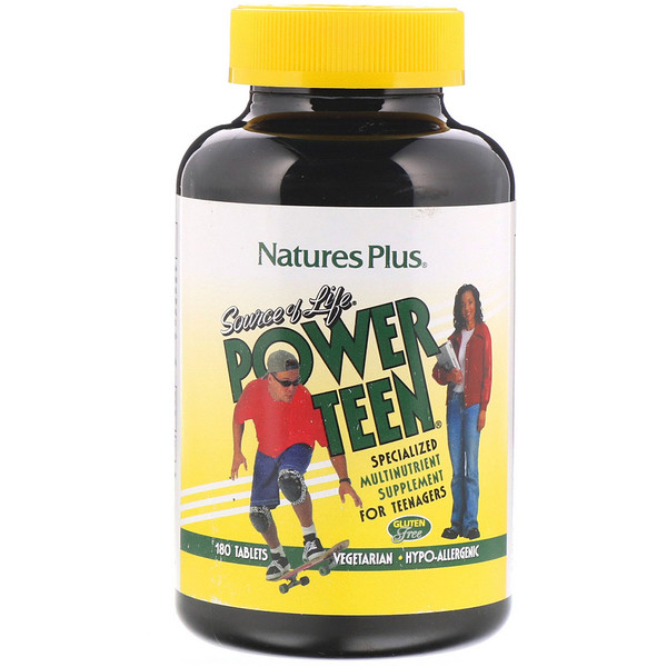 Nature's Plus, Source of Life, Power Teen (Adolecentes), 180 Tabletas