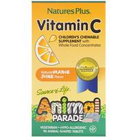 Source of Life, Animal Parade, витаминC, жевательная добавка для детей, вкус натурального апельсинового сока, 90животных - фото