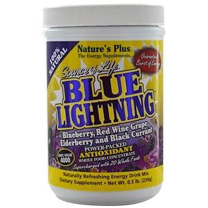 Натурес Плюс, Source of Life, Blue Lightning, Powder, Energy Drink Mix, 0.5 lb (230 g) отзывы