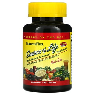 Nature's Plus, Source Of Life, Multi-Vitamin & Mineral Supplement with Whole Food Concentrates, 90 Mini-Tablets