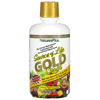 Nature's Plus, Source of Life, Gold Liquid, Tropical Fruit, 30 fl oz (887.10 ml)