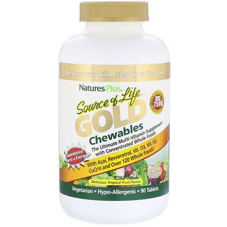 Nature's Plus, Source of Life, Gold Chewables, Delicious Tropical Fruit Flavor, 90 Tablets