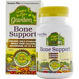 Nature's Plus, Source of Life, Garden, Bone Support, 120 Veggie Caps