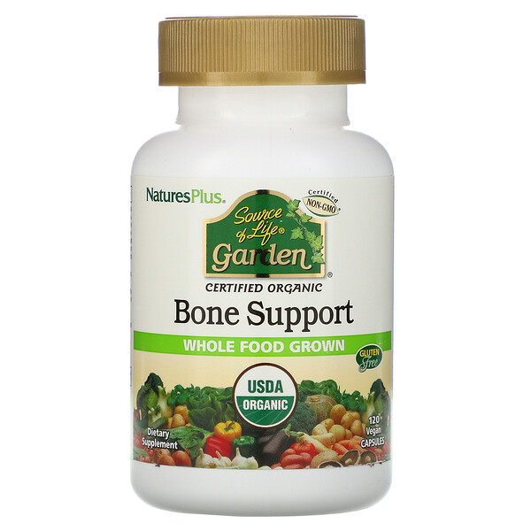 Source of Life Garden, Organic Bone Support, 120 Vegan Capsules