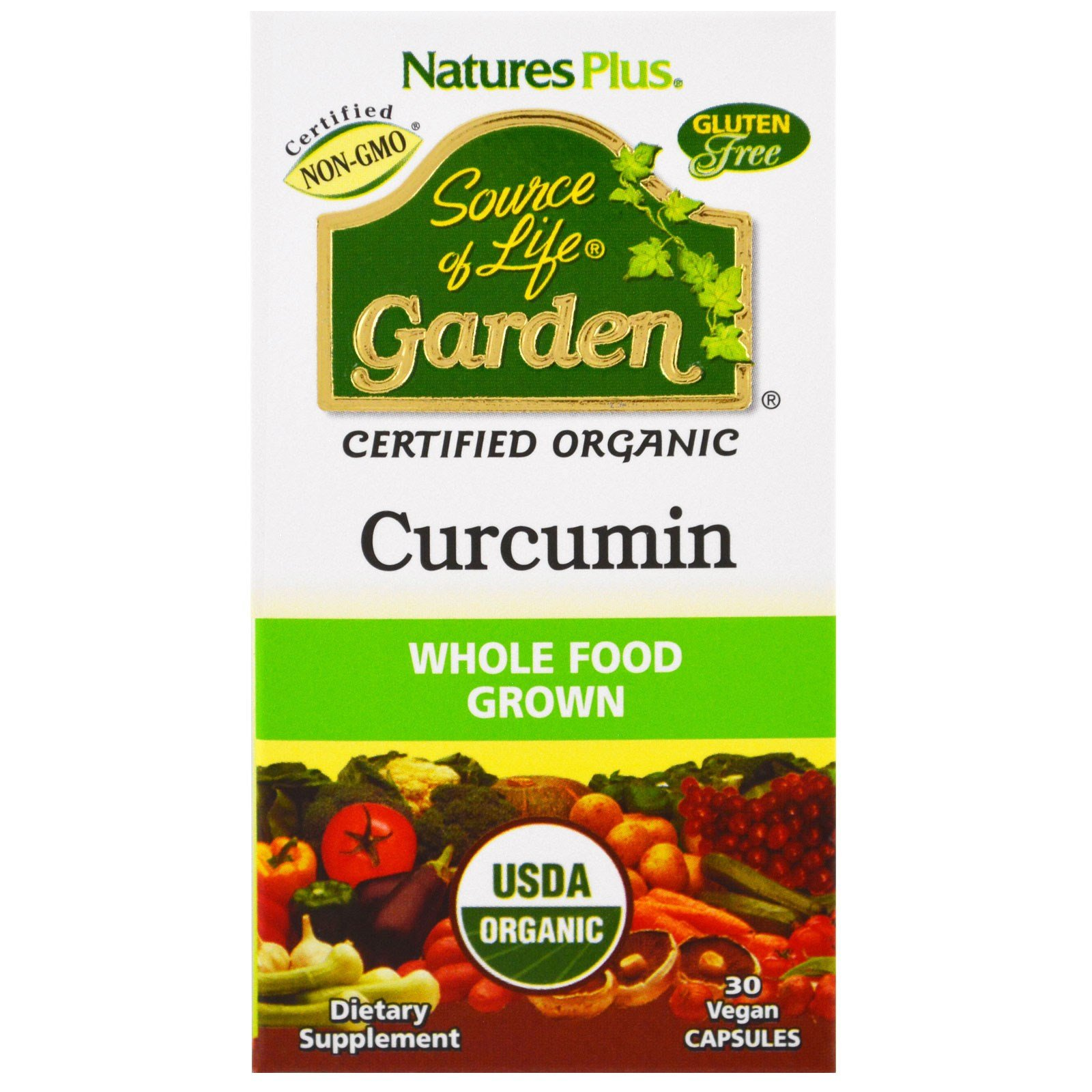 Nature's Plus, Source of Life Garden, Curcumin, 30 Vegan Capsules