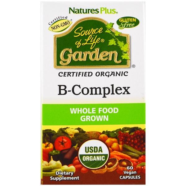 Nature's Plus, Source of Life Garden,有機複合維生素B,60粒素食膠囊