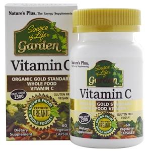 Nature's Plus, Source of Life, Garden, Витамин С 60 овощных капсул