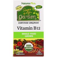 Source of Life Garden, Certified Organic Vitamin B12, 60 Vegan Capsules - фото