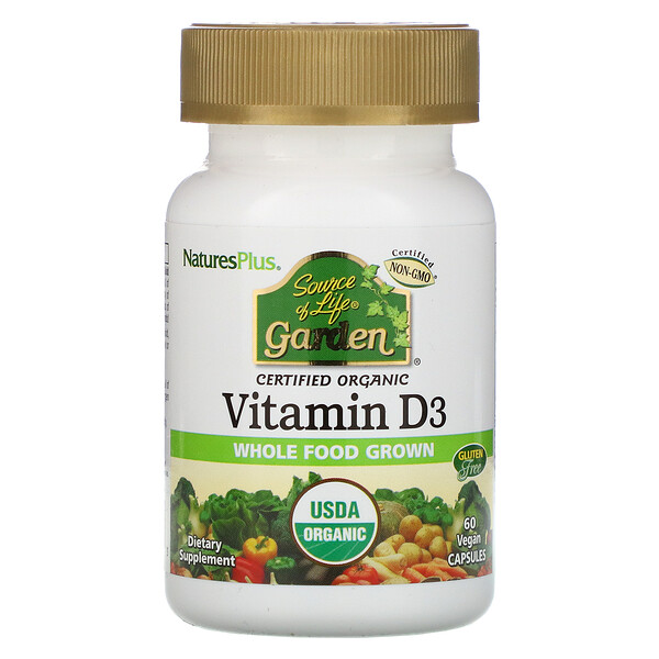 Source of Life, Garden, Vitamin D3, 60 Vegan Capsules