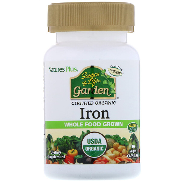 Source of Life Garden, Iron, 30 Vegan Capsules