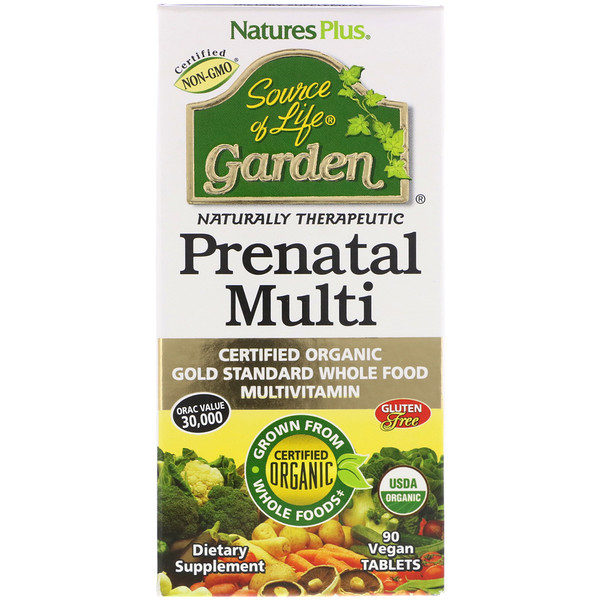 Nature's Plus, Source of Life Garden, Prenatal Multi, 90 Vegan Tablets