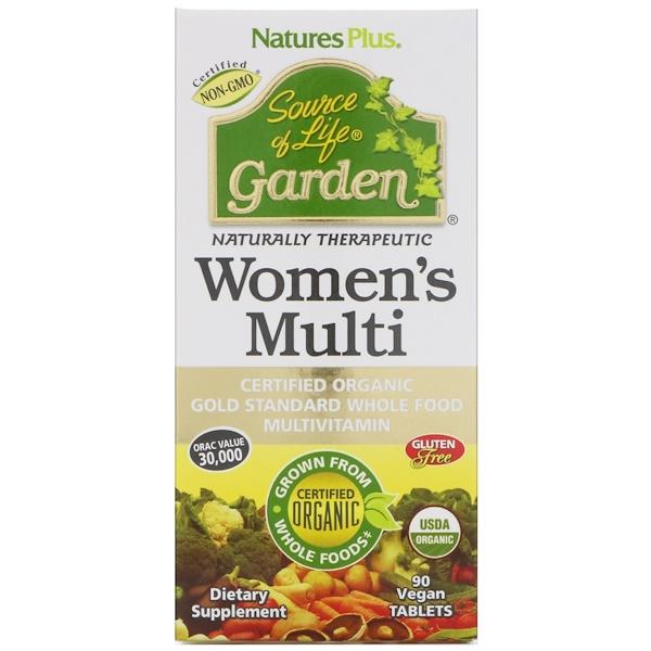 Nature's Plus, Source of Life Garden, Women's Multi, 90 Vegan Tablets (Discontinued Item)
