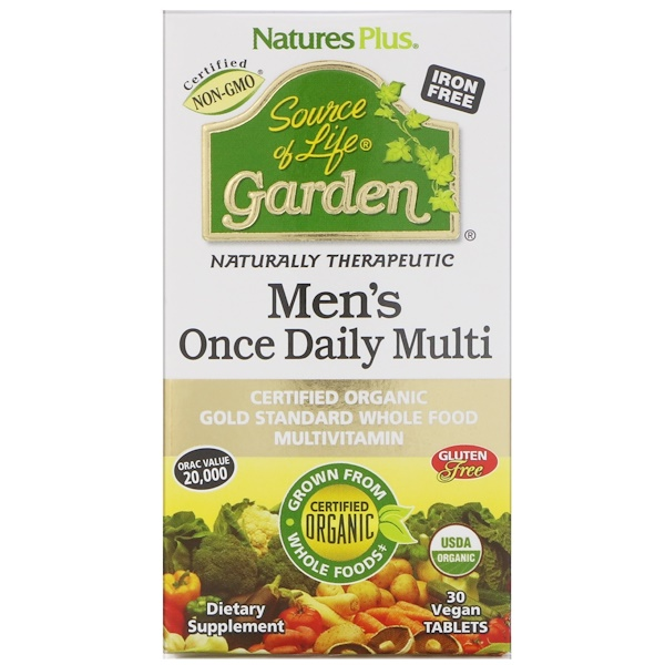 Nature's Plus, Source of Life Garden, Men's Once Daily Multi, 30 Vegan Tablets