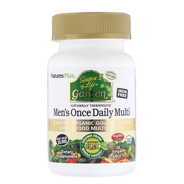 مصدر حديقة الحياة، الفيتامينات المتعددة للرجال مرة واحدة يومياً، 30 قرص نباتي
