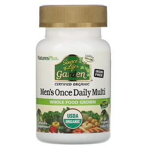Натурес Плюс, Source of Life Garden, Men's Once Daily Multi, 30 Vegan Tablets отзывы