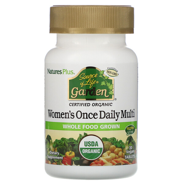 Source of Life Garden, Women's Once Daily Multi, 30 Vegan Tablets