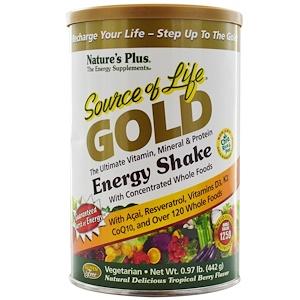 Натурес Плюс, Source of Life Gold, Energy Shake, Tropical Berry Flavor, .97 lb (442 g) отзывы