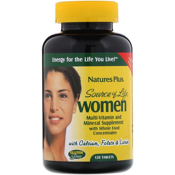 Source of Life, Mujeres, suplemento multivitamínico y mineral con concentrados de alimentos integrales, 120 tabletas
