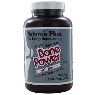 Nature's Plus, Bone Power, with Boron, 180 Softgels