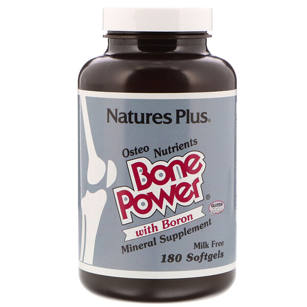 Nature's Plus, Bone Power with Boron, 180 Softgels