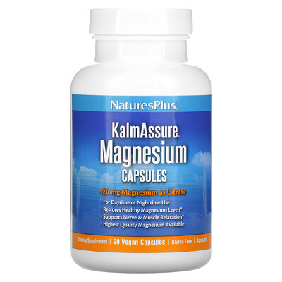 Natures Plus KalmAssure, Magnesium, 420 mg, 90 Vegan Capsules