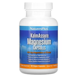 Nature's Plus, KalmAssure, Magnesium, 420 mg, 90 Vegan Capsules