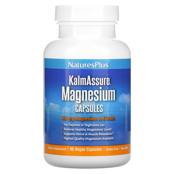 Nature's Plus, KalmAssure, Magnesium, 420 mg, 90 Vegan Capsules