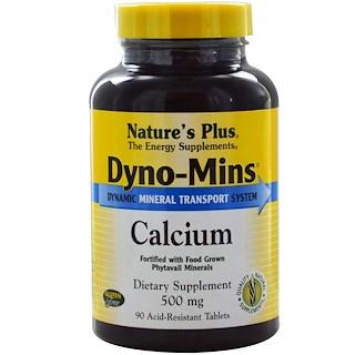 Nature's Plus, Dyno-Mins, Calcium, 500 mg, 90 Acid-Resistant Tablets