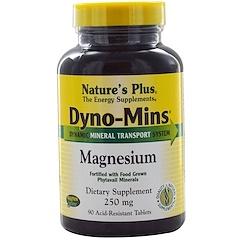 Nature's Plus, Dyno-Mins, magnésium, 250 mg, 90 comprimés résistants aux acides
