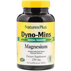 Nature's Plus, Dyno-Mins, 鎂耐酸片, 250 毫克, 90 片