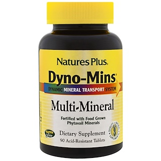 Nature's Plus, Dyno-Mins, Multi-Mineral, 90 Acid-Resistant Tablets