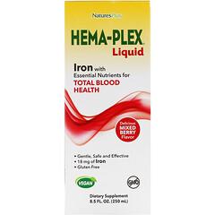 Nature's Plus, Hema-Plex 液體,混合漿果味,8.5 盎司(250 毫升)