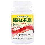 Отзывы о Nature's Plus, Hema-Plex, Iron, 60 Fast-Acting Softgels