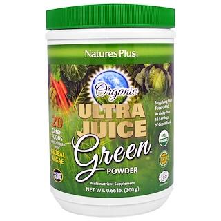Nature's Plus, Ultra Juice Green Powder, 0.66 lb (300 g)