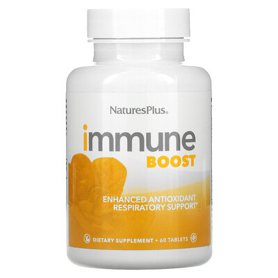 Купить Nature's Plus Immune Boost, Enhanced Antioxidant Respiratory Support, 60 Tablets
