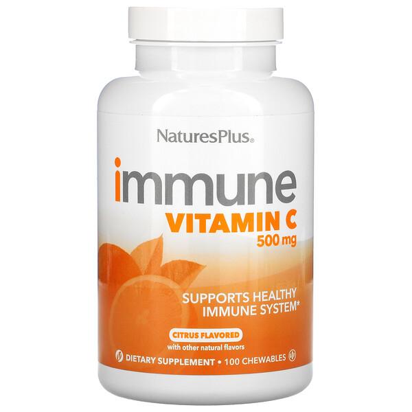 Immune Vitamin C, Citrus, 500 mg, 100 Chewables