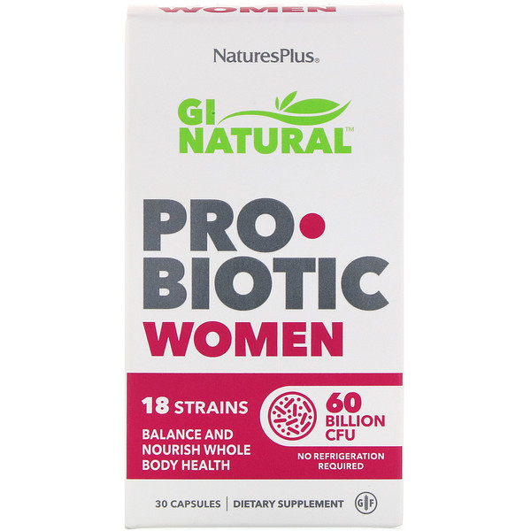 GI Natural Probiotic Women, 60 Billion CFU, 30 Capsules
