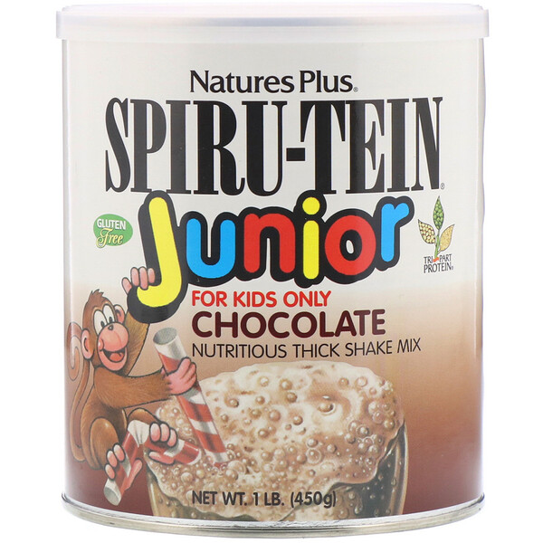 Spiru-Tein Junior, Nutritious Thick Shake Mix, Chocolate, 1 lb (450 g)