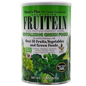 Натурес Плюс, Fruitein High Protein Energy Shake, Revitalizing Green Foods, 1.3 lbs (576 g) отзывы