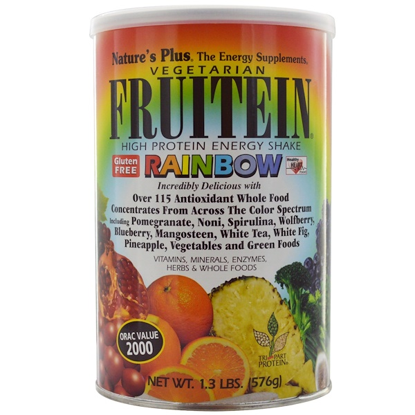 Nature's Plus, Fruitein, High Protein Energy Shake, Rainbow, 1.3 lbs (576 g) (Discontinued Item)