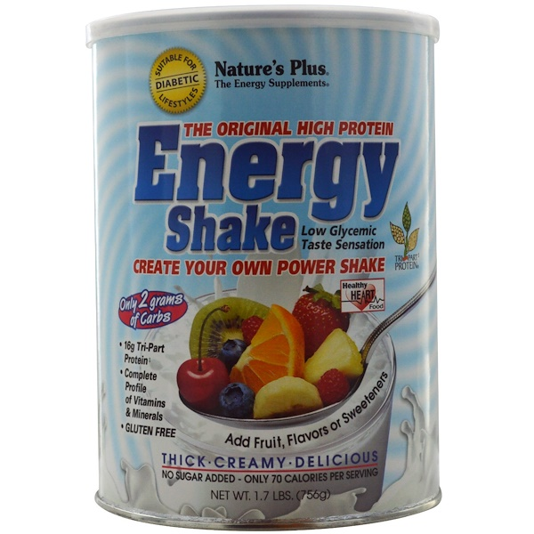 Nature's Plus, Shake Energético, O Original de Alta Proteína, 1,7 lbs, (756 g) (Discontinued Item)