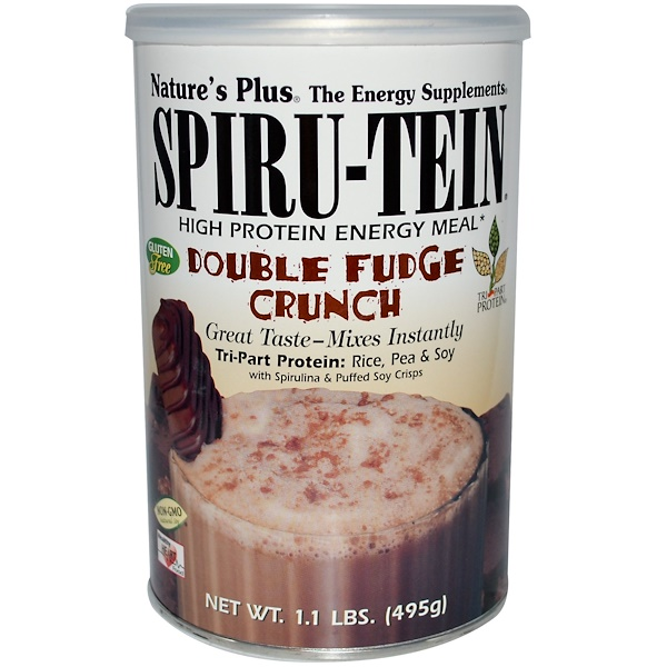 Nature's Plus, Spiru-Tein, High Protein Energy Meal, Double Fudge Crunch, 1.1 lbs (495 g) (Discontinued Item)