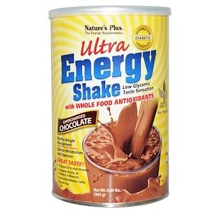 Натурес Плюс, Ultra Energy Shake, Supercharged Chocolate, 0.80 lbs (363 g) отзывы