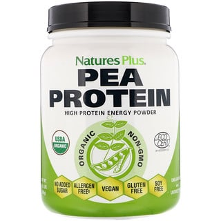 Nature's Plus, Organic Pea Protein Powder, 1.10 lbs (500 g)