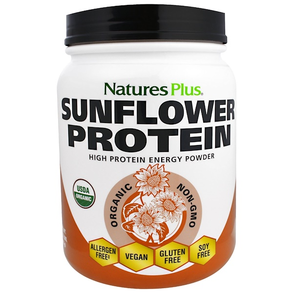 Nature's Plus, Organic Sunflower Protein Powder, 1.22 lbs (555 g) (Discontinued Item)