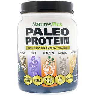 Nature's Plus, Paleo Protein, High Protein Energy Powder, Unflavored and Unsweetened, 1.49 lbs (675 g)