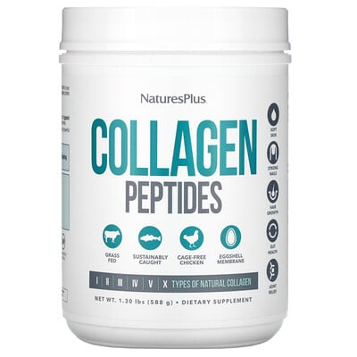 Купить Nature's Plus Collagen Peptides, 1.30 lbs (588 g)