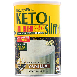 Nature's Plus, Keto Slim, High Protein Shake, Vanilla, 0.80 lb (363 g)