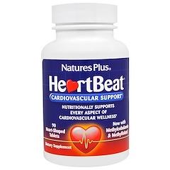 Nature's Plus, Сердцебиение, Поддержка Сердечно-сосудистой системы , 90 Таблеток в Форме Сердца